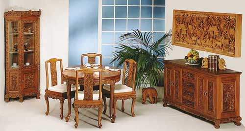 handcarved furniture